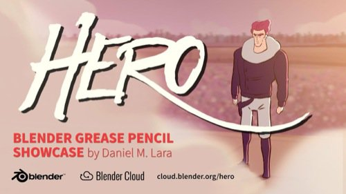 Hero: Animação 2D no Blender com Grease Pencil