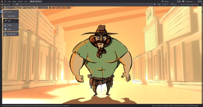 Blender 2.8 para animação 2D com Grease Pencil