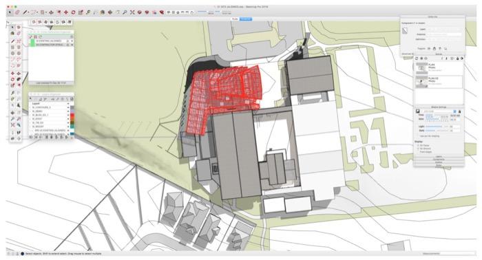 Projeto de arquitetura: Centro artístico projetado com SketchUp