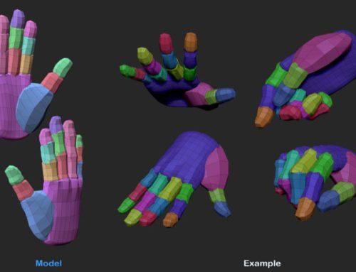 Mãos 3d gratuitas para estudo de modelagem