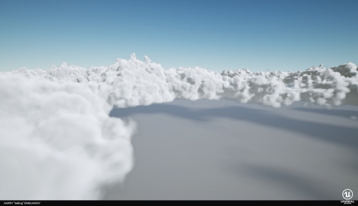 Nuvens volumétricas gratuitas para Unreal Engine