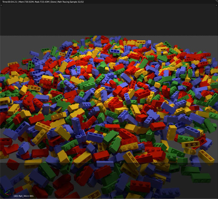 Material com cores aleatórias no Blender 2.8