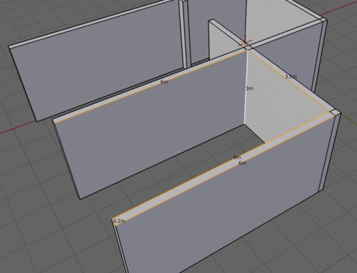 Modelagem para arquitetura: Dimensões no Blender 2.8